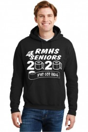 Graduation Black Hooded Sweatshirt w/Front Logo