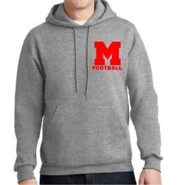 Melrose Football Jerzee Hooded Sweatshirt w/Melrose Football Logo