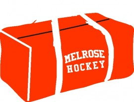 Melrose YH Red Canvas Hockey Bag w/Melrose Hockey