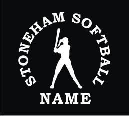 Stoneham Softball Vinyl Window Decal