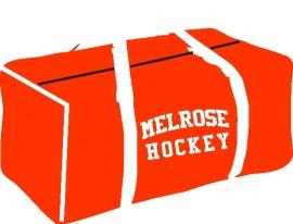 Melrose YH Red Canvas Hockey Bag w/Melrose Hockey